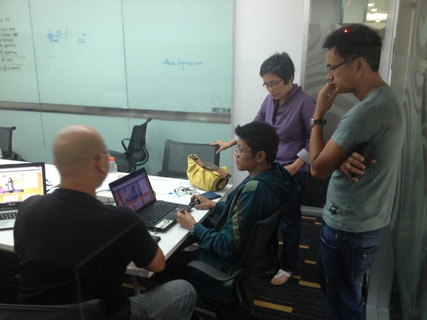 Exec. Dir. Bel Padlan and iVolunteer co-founder Deanie Ocampo mentor participants in the PWDO Caritakathon Charity Hackathon