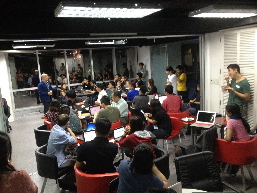 The iVolunteer Philippines core team participates in Hack For A Cause PH to build Yolanda web applications to help victims of the super typhoon