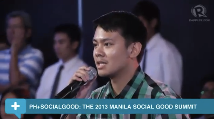 Marketing Dir. Carlos Miguel Lasa participates in the 2013 Rappler Social Good Summit