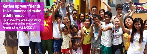 Spend a weekend with Gawad Kalinga and iVolunteer and help end poverty.