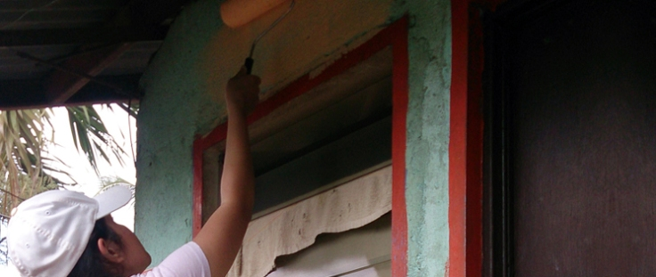 Giving the GK houses a brand new coat of paint!