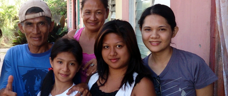 With Nanay Suzette and the rest of my foster family for 5 days at GK Padre Garcia